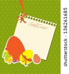 happy easter greeting card with ... | Shutterstock .eps vector #136261685