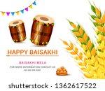 illustration of happy baisakhi...   Shutterstock .eps vector #1362617522