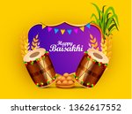 illustration of happy baisakhi... | Shutterstock .eps vector #1362617552