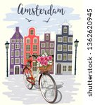 amsterdam city background | Shutterstock .eps vector #1362620945