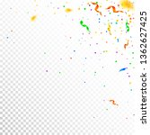 streamers and confetti....   Shutterstock .eps vector #1362627425