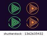icon set of play button. vector ...