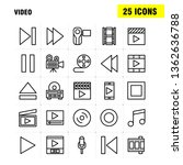video line icon pack for...