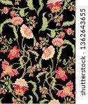 seamless pattern with stylized...   Shutterstock .eps vector #1362643655