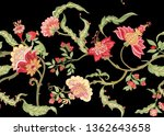 seamless pattern with stylized... | Shutterstock .eps vector #1362643658