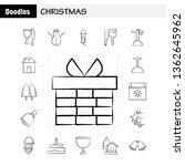 christmas hand drawn icons set...