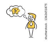 businessman thinking of money... | Shutterstock .eps vector #1362651875
