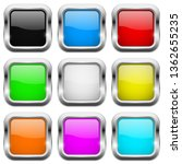 square buttons. glass colored... | Shutterstock .eps vector #1362655235