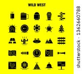 wild west solid glyph icon for...