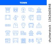 town line icons set for...