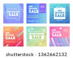 set of colorful banners with... | Shutterstock .eps vector #1362662132
