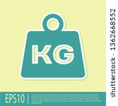 green weight icon isolated on... | Shutterstock .eps vector #1362668552