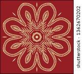 folk  tribal design  motif ... | Shutterstock .eps vector #1362670202