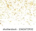 gold glossy realistic confetti... | Shutterstock .eps vector #1362672932
