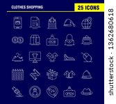 clothes shopping line icon for...