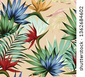 exotic botanical wallpaper... | Shutterstock .eps vector #1362684602