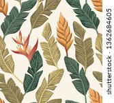 trendy botanical wallpaper from ... | Shutterstock .eps vector #1362684605