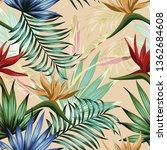 exotic botanical vivid... | Shutterstock .eps vector #1362684608