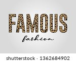 famous fashion text with...   Shutterstock .eps vector #1362684902