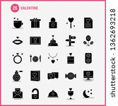 valentine solid glyph icon pack ... | Shutterstock .eps vector #1362693218