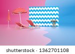 3d render pink and blue image... | Shutterstock . vector #1362701108