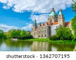new town hall in hannover ... | Shutterstock . vector #1362707195