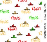 mexico doodle pattern with... | Shutterstock .eps vector #1362707228