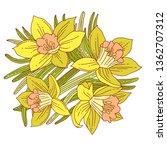 beautiful arrangement of spring ... | Shutterstock .eps vector #1362707312