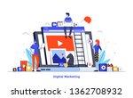 modern flat design illustration ... | Shutterstock .eps vector #1362708932