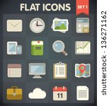 universal flat icons for web... | Shutterstock .eps vector #136271162