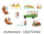 active travel cartoon vector... | Shutterstock .eps vector #1362721562