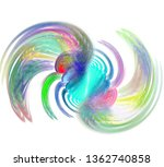 an abstract computer generated... | Shutterstock . vector #1362740858