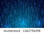 blue digital background. random ... | Shutterstock .eps vector #1362756398
