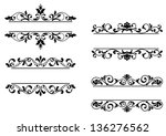 floral headers and borders in... | Shutterstock . vector #136276562