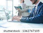elegant businessman in... | Shutterstock . vector #1362767105