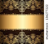 background with gold jewelry... | Shutterstock .eps vector #136277222