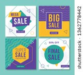 abstract sale banners for... | Shutterstock .eps vector #1362778442