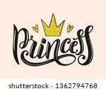 princess lettering for print  t ...   Shutterstock .eps vector #1362794768