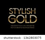 vector stylish golden alphabet. ... | Shutterstock .eps vector #1362803075