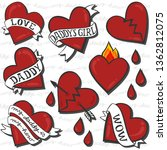 daddy love daddy's girl heart... | Shutterstock .eps vector #1362812075
