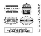 wedding stamps version   Shutterstock . vector #136282835