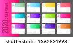 2020 calendar minimal gradient... | Shutterstock .eps vector #1362834998