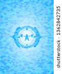 deep squat icon inside sky blue ... | Shutterstock .eps vector #1362842735