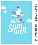 """hello summer"" vector... | Shutterstock .eps vector #1362843452"
