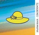 women's hat mono color icon....