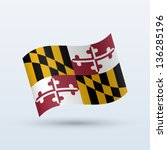 state of maryland flag waving... | Shutterstock .eps vector #136285196