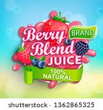 fresh berry blend juice logo... | Shutterstock .eps vector #1362865325