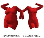 conceptual fat overweight obese ...   Shutterstock . vector #1362867812
