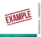 example stamp vector template...   Shutterstock .eps vector #1362869105
