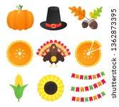 vector collection of autumn... | Shutterstock .eps vector #1362873395